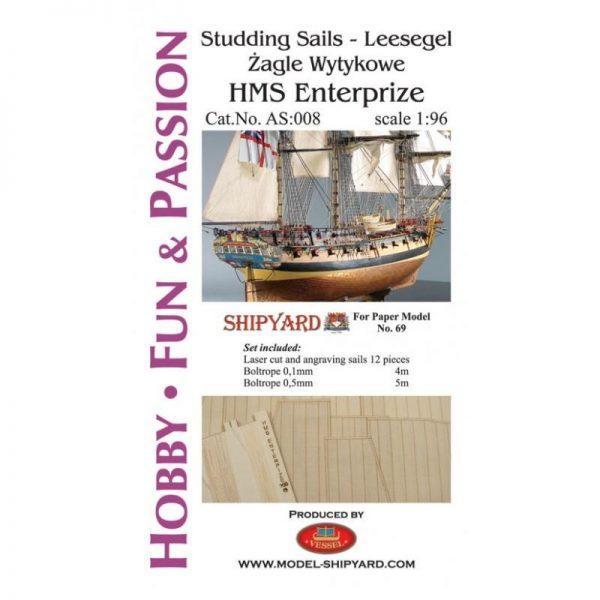 HMS Enterprize - Studding Sails 1:96