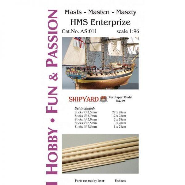 Mast Set for HMS Enterprize