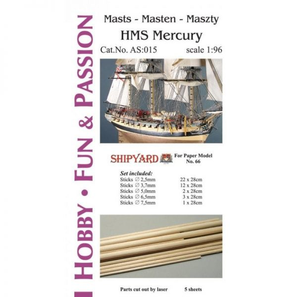 Mast Set for HMS Mercury
