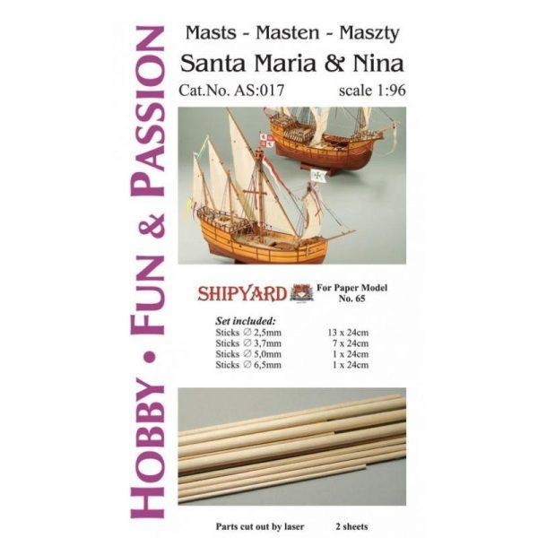 Mast Set for Santa Maria and Nina