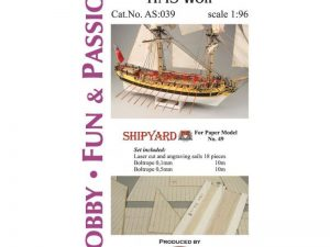 Sails for HMS Wolf 1:96
