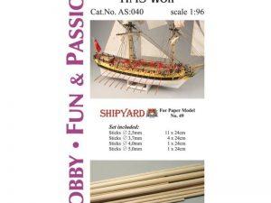 Mast Set for HMS Wolf
