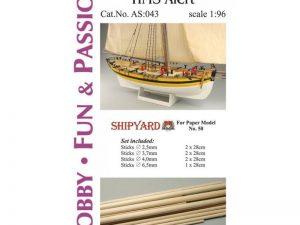 Mast Set for HMS Alert
