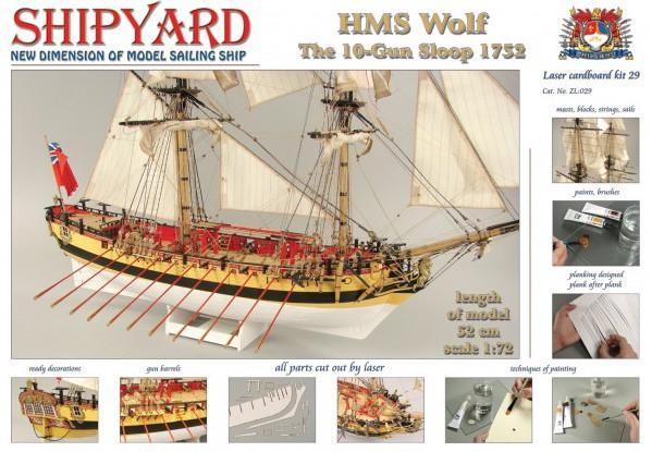 HMS Wolf, 1754 1:72