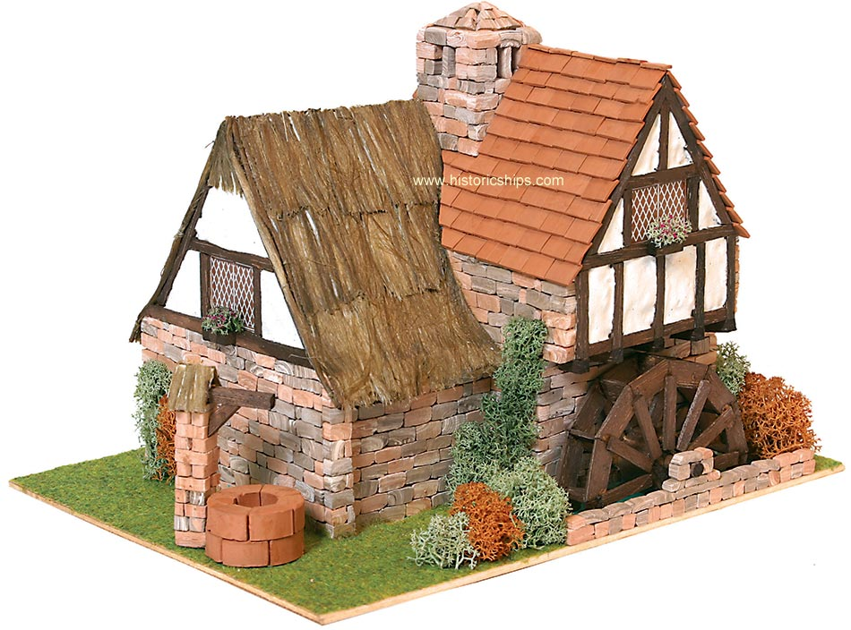 Country Cottage With Waterwheel Dk40032 Historic Ships