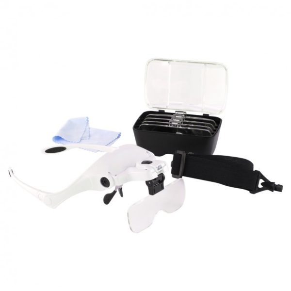 Magnifier Glasses with Headband and 5 Lenses