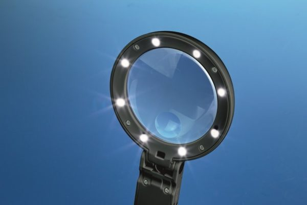 Foldable LED Magnifier with Inbuilt Stand