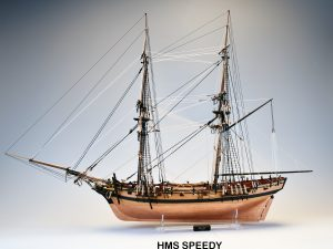 Brig HMS Speedy by Vanguard Models