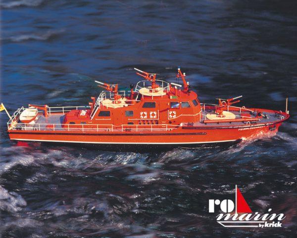 Düsseldorf Fire Fighting Boat Kit PN: ro1100 The Düsseldorf fire fighting boat